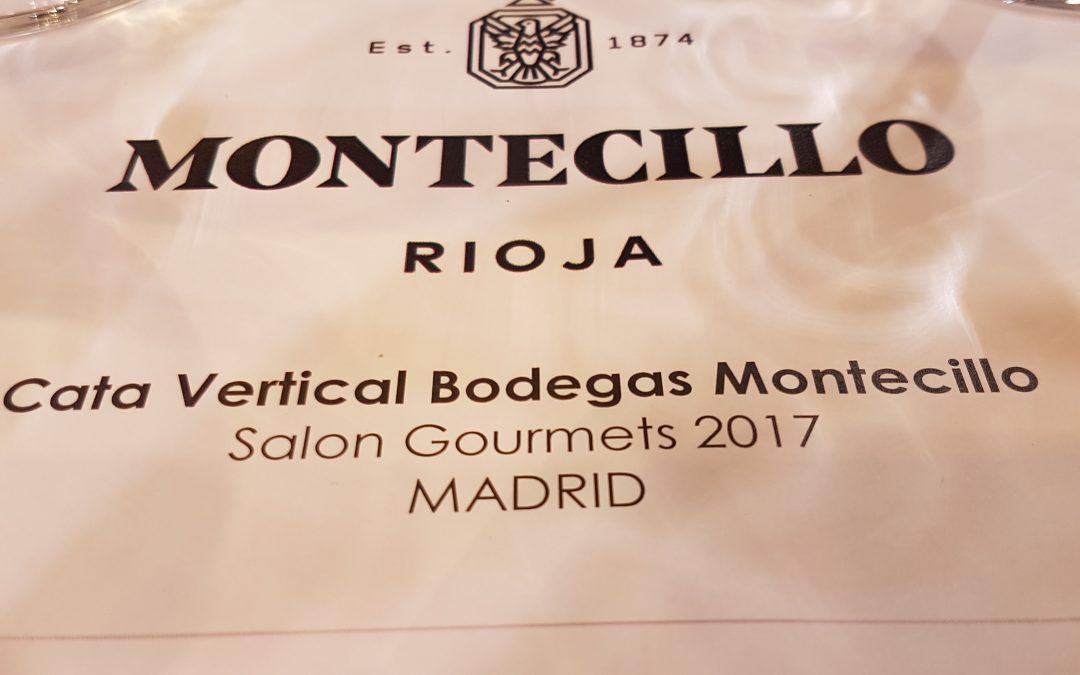 Cata Vertical de Bodegas Montecillo-Salon Gourmets 2017